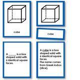 Montessori 123 - Geometric Solids Nomenclature Classified - Montessori Materials