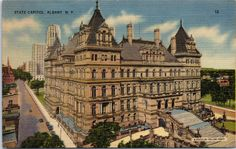 Albany New York State Capitol  Linen by postcardsofthepast on Etsy