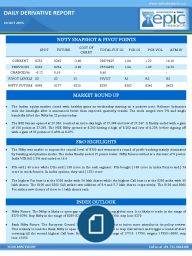 he Indian equity market closed with healthy gains on wednesday starting on a positive note. Reliance Industries stole the limelight after it announced better than expected quarterly results. The stock surged over 5% and single handedly lifted the Nifty by 22 points today.
