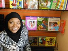 Author Tauheedah Stephens with her books in the bookstore.