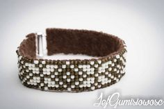 Cream by JejGumisiowosc Loom Beading, Belt, Cream, Trending Outfits, Unique Jewelry, Bracelets, Handmade Gifts, Accessories, Etsy