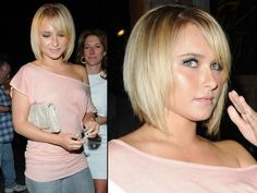 Long layered short hair- Hayden Panettiere bob
