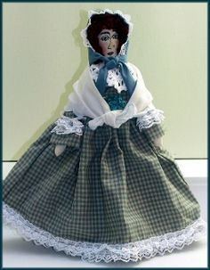 Ursula Stepping Out Handmade Victorian Girl Cloth Art Doll by Linda Walsh