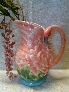 Ceramic Flamingo Pitcher