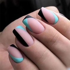 Say goodbye to mediocre nail design - Page 111 of 119 - Insp.- Say goodbye to mediocre nail design – Page 111 of 119 – Inspiration Diary - Minimalist Nails, Short Nail Designs, Cool Nail Designs, Grey Nail Designs, Cute Acrylic Nails, Fun Nails, Gradient Nails, Rainbow Nails, Glitter Nails