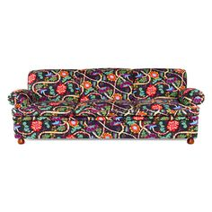 Sofa 703 230 cm by Joseph Frank Floral Couch, Yard Sale Finds, Tufted Ottoman, Modern Traditional, Bold Prints, Red Purple, Room Inspiration, Painted Furniture, Sofas