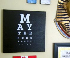 Star Wars Canvas diy...@Stephanie Close Hayes, you could totally make this!