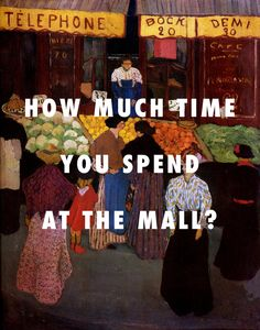 ALL DAY!!!!! At the market (1895), Felix Vallotton / All Day, Kanye West