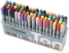 A wonderful set of copic art markers! Love