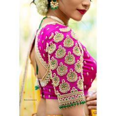 Stylish blouse designs 2021! Instagram Credits - Blouse: @anjushankarofficial Muse - @one_pitch_catch Shot by - @maheshwarun.photography Mua - @artistrybyolivia Hair - @jayashree_hairstylist Jewelery - @rimliboutique Blouse Back Neck Designs, Hand Work Blouse Design, Simple Blouse Designs, Stylish Blouse Design, Bridal Blouse Designs, Stylish Dress Designs, Saree Blouse Designs, Stylish Sarees, Stylish Dresses