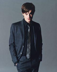 skinny black tie. | Windowpane Jacket and Tie Combos | Pinterest ...