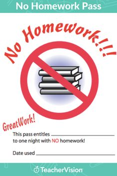 """Reward students for a job well done with a """"get out of homework free"""" card! This pass entitles a student to one homework-free evening. This printable is customizable. Teacher Websites, Teacher Resources, Classroom Organization, Classroom Management, Classroom Ideas, Homework Pass, Student Rewards, Behavior Interventions, Substitute Teacher"""