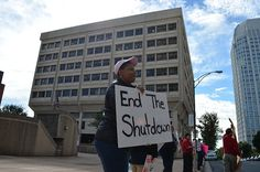 Winston-Salem Federal Workers Protest Government Shutdown