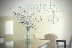 How to create cotton stems in 4 easy steps