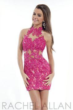 Rachel Allan 6657 - $358.00. Exqusite lace short dress