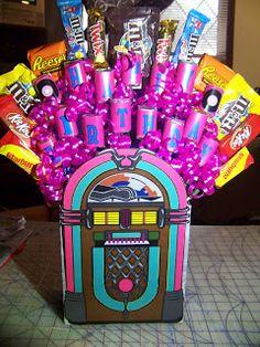 Sock Hop Jukebox Candy Bouquet Tutorial   Kandy Kreations