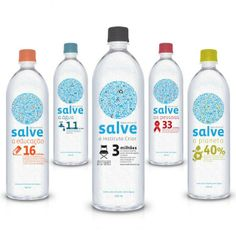 Salve Water Packaging Design