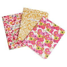 Caroline Gardner Ditsy A5 Notebooks Set of by HappieScrappieCrafts