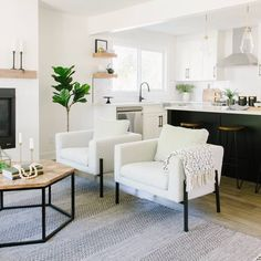 The before's on this home are incredibly gross!  Enjoy the process and after's  Home remodel, fixer upper, flip house, livingroom, home decor, styling, white kitchen Fixer Upper House, Staging, Home Remodeling, Dining Bench, It Is Finished, Living Room, Kitchen, Furniture, Charity