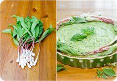 wild garlic pie collage 3
