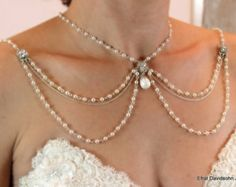 Necklace For The Shoulders,Backdrop Necklace,Bridal Jewelry,Wedding…