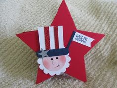 Fourth of July Treat Box Patriotic Crafts, July Crafts, Diy And Crafts, Crafts For Kids, Paper Crafts, 4th Of July Fireworks, Fourth Of July, Treat Holder, Treat Box