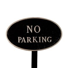 Montague Metal Products SP2SBSLS Standard Black and Silver No Parking Oval Statement Plaque with 23Inch Lawn Stake * Click image for more details.