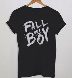 Fall Out Boy Brush Typography Design Woman TShirt by Sarimbittees, $16.99