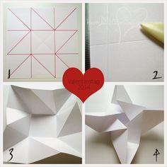 Herzblut Ein DIY Blog: Origami Karte Zum Valentinstag. Kleine AufmerksamkeitZum  ...