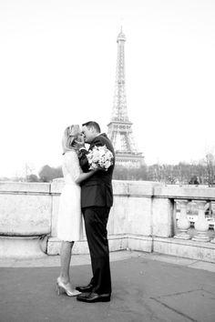 Serious Parisian romance: http://www.stylemepretty.com/destination-weddings/2015/06/03/simple-romantic-parisian-elopement/   Photography: Les Productions de la Fabrik - http://lesproductionsdelafabrik.com/