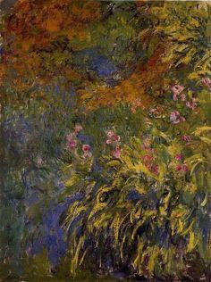 Irises by Claude Monet,