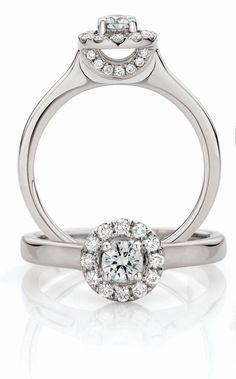 Diamond Engagement Ring -  0.50 carat of diamonds beautifully set in platinum. $2999