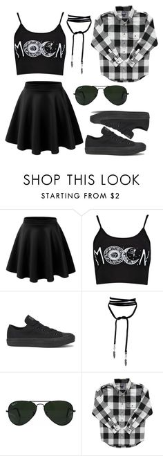 """""""Untitled #51"""" by chaoticbouquet ❤ liked on Polyvore featuring Converse and Ray-Ban"""