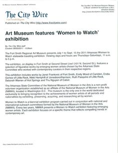 Art Museum features 'Women to Watch' exhibition -The City Wire, 6/3/2011