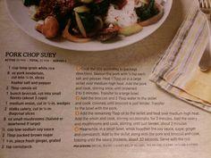 Womans day pork chop suey