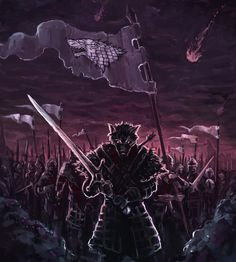 """Robb Stark, Revenge of the Dead by Banzz on deviantART. """"The Young Wolf remains unbeaten in the field."""""""