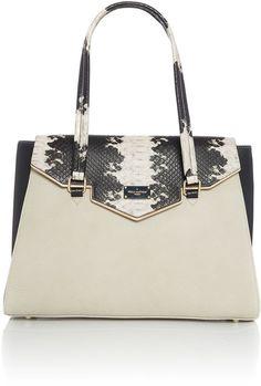 Paul's Boutique Waldorf ashley black medium flap over tote bag