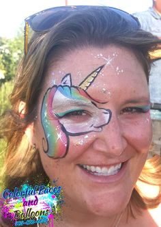 #unicornFacepainting, #Unicornsandsparkle, #Colorfulfacesandballoons, #facepainter, #balloontwister, #holidayfacepainter, #4thofjulyfacepainter, #facepaintinginriversidecounty, #facepaintingininlandempire, #balloontwisterinriversidecounty, #balloontwisterininlandempire. face painting designs by Avie Fontes, Balloon Art, Balloon twisting, Davids Balloons, Globos, www.colorfulfacesandballoons.com - 909-855-6624 Serving the Inland Empire. Face Painting Designs, Paint Designs, Balloon Painting, Unicorn Face, Empire, Balloons, Projects To Try, Faces, Colorful