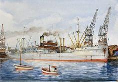 Production models of ships, scale models ship and building models. Nautical Painting, Nautical Art, Scale Model Ships, Scale Models, Ship Paintings, Boat Art, Tug Boats, Tall Ships, Ship Art