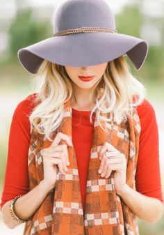 Bright fall fashion to match your lip color.