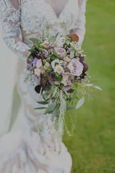 Boho wedding flowers flower trends for 2015 with campbells flowers - boho w Poppy Wedding Bouquets, Wildflower Bridal Bouquets, Bohemian Wedding Flowers, Protea Wedding, Purple Wedding Flowers, Wedding Flower Arrangements, Bouquet Flowers, Green Wedding, Trailing Bouquet
