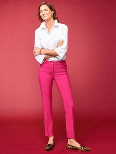 Meet the Talbots Hampshire Straight-Leg Pant. A best-seller, these ultra-polished pants are crafted with stretch for wear-all-day comfort and move-with-you ease. Pair with tees and comfortable flats on the weekend, crisp white shirts and tweed jackets during the week. | Talbots