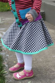probably actually handmade kids clothing swap! Reversible circle skirt