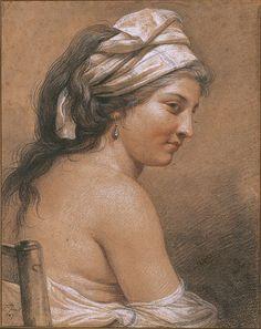 Portrait of Marie-Gabrielle Capet, detail Adélaïde Labille-Guiard, 1785.