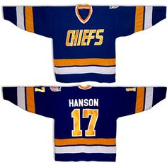Slapshot movie hockey jerseys, hanson brothers charlestown chiefs hockey jerseys and t-shirts. Hockey movie hockey jerseys, sports movie t-shirts. Custom team hockey jerseys also available. Hanson Brothers, Ice Hockey Jersey, Slap Shot, Movie T Shirts, I Movie, Sport Outfits, Jeans, Trending Outfits, Sports