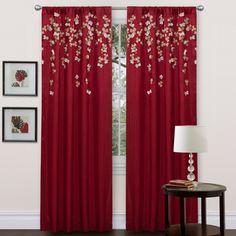 Shop for Lush Decor Red Faux Silk 84-inch Flower Drop Curtain Panel. Free Shipping on orders over $45 at Overstock.com - Your Online…