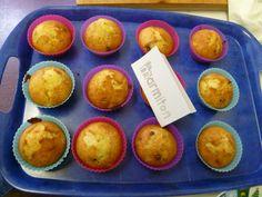 Muffin bananes et pépites de chocolat - Recette de cuisine Marmiton : une recette