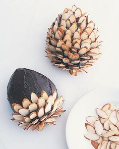 Chocolate Frosting for Pinecone Cake- so cute!