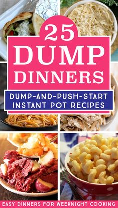 25 Delicious Instant Pot Dump Dinners for Easy Weeknight Meals - Fun Loving Families Make dump recipes is the easiest way to cook dinner with your electric pressure cooker. I love using my Instant Pot to make these easy dinner recipes for busy weeknights. Best Instant Pot Recipe, Instant Pot Dinner Recipes, Easy Dinner Recipes, Yummy Easy Dinners, Instant Pot Meals, Fast Easy Dinner, Easy Meals, Dinner Healthy, Paleo Dinner
