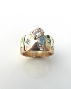 contemporary wedding ring,alternative engagement ring,custom made jewelery,remodeling old rings | Debra Fallowfield